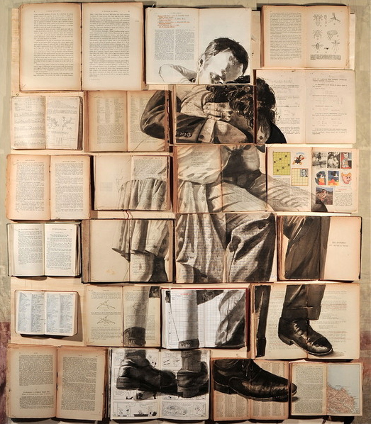 13 Beautiful Collages Made From Old Books