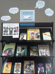 Adult Education and Family Literacy Week display